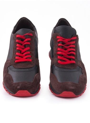 %100 Deri Bağcıklı Spor Ayakkabı-Gutteri